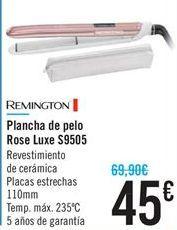 Oferta de Plancha de pelo Rose Luxe S9505 REMINGTON por 45€