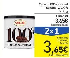 Oferta de Cacao 100% natural soluble VALOR por 3,65€
