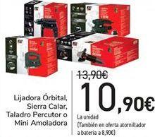 Oferta de Lijadora órbital, Sierra Calar, Taladro Percutor o Mini Amoladora  por 10,9€