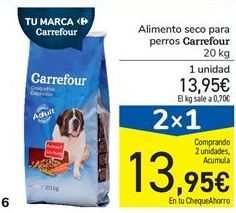 Oferta de Alimento seco para perros Carrefour por 13,95€