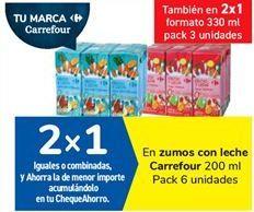 Oferta de En zumos con leche Carrefour por