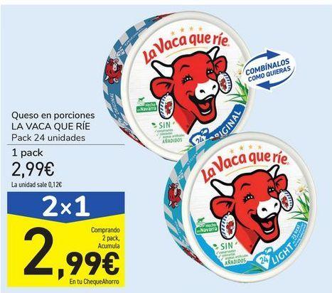 Oferta de Queso en porciones LA VACA QUE RÍE por 2,99€