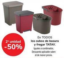 Oferta de En TODOS los cubos de basura y fregar TATAY, iguales o combinados   por