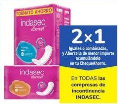 Oferta de En TODAS las compresas de incontinencia INDESEC por