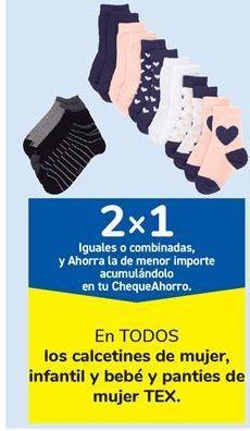 Oferta de En TODOS los calcetines de mujer, infantil y bebé y panties de mujer TEX por