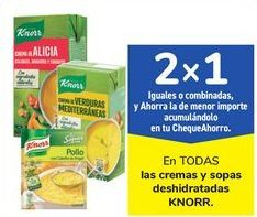 Oferta de En TODAS las cremas y sopas deshidratadas KNORR por