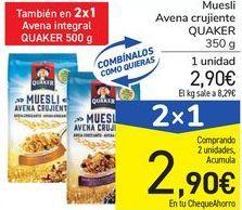 Oferta de Muesli Avena crujiente QUAKER por 2,9€