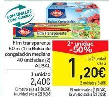 Oferta de Film transparentes o Bolsa de congelación mediana ALBAL por 2,4€