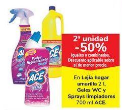 Oferta de En lejía hogar amarilla Geles WC y Spray Limpiadores ACE  por