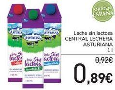 Oferta de Leche sin lactosa CENTRAL LECHERA ASTURIANA  por 0,89€