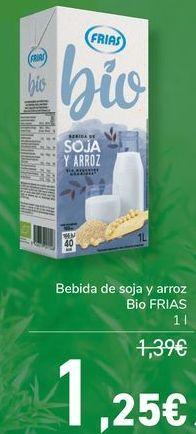 Oferta de Bebida de soja y arroz Bio FRIAS  por 1,25€