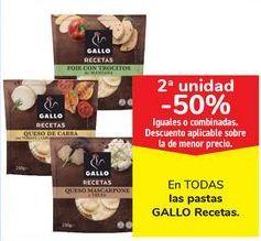 Oferta de En TODAS las pastas GALLO Recetas  por