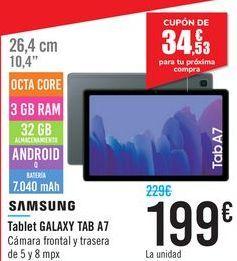 Oferta de Tablet GALAXY Tab A7  por 199€