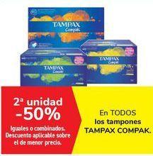 Oferta de En TODOS los tampones TAMPAX COMPACK  por