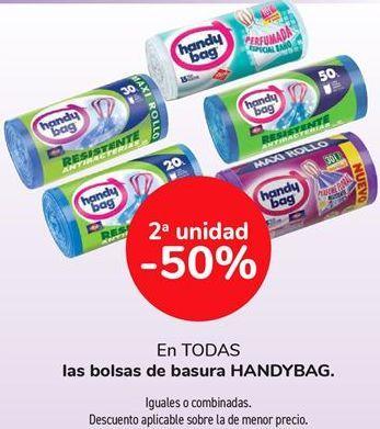 Oferta de En TODAS las bolsas de basura HANDYBAG  por