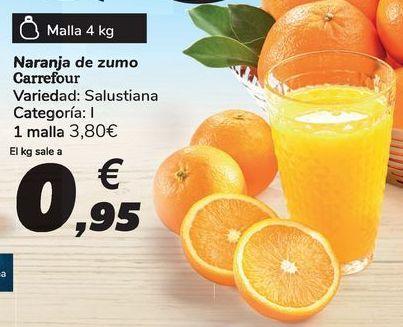 Oferta de Naranja de zumo Carrefour por 3,8€