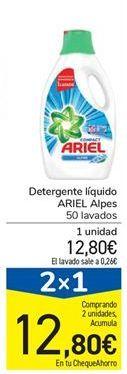 Oferta de Detergente líquido ARIEL Alpes por 12,8€