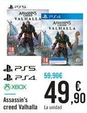 Oferta de Assassin's creed Valhalla PS5 PS4 XBOX por 49,9€