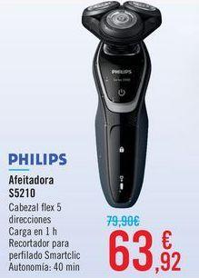 Oferta de Afeitadora S5210 PHILIPS  por 63,92€