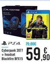 Oferta de Cyberpunk 2077 + headset Blackfire BFX15 por 59,9€