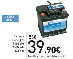 Oferta de Batería Eco n1 Modelo de 45 ah 400A  por 39,9€