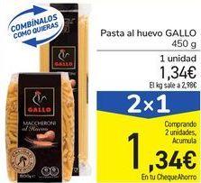 Oferta de Pasta al huevo GALLO por 1,34€