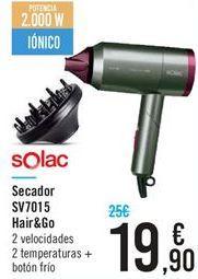 Oferta de Secador SV7015 Hair&Go por 19,9€