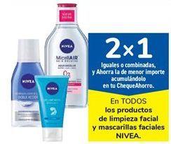 Oferta de En TODOS los productos de limpieza facial y mascarillas faciales NIVEA por