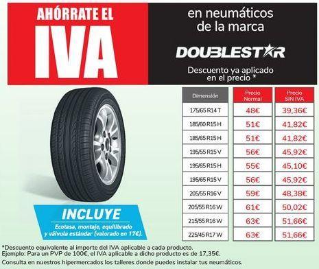 Oferta de En neumáticos de la marca DOUBLESTAR por