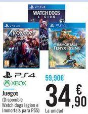 Oferta de Juegos PS4 XBOX  por 34,9€