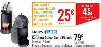 Oferta de Cafetera Dolce Gusto Piccolo KRUPS DeLonghi  por 79€