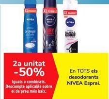 Oferta de En TODOS los desodorantes NIVEA Spray  por
