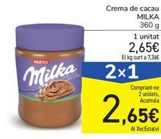 Oferta de Crema de cacao MILKA por 2,65€