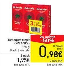 Oferta de Tomate frito ORLANDO  por 1,95€