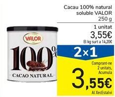 Oferta de Cacao 100% natural soluble VALOR por 3,55€