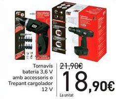 Oferta de Atornillador Batería 3,6V con accesorios o Taladro atornillador   por 18,9€