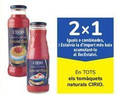 Oferta de En TODOS los tomates naturales CIRIO por
