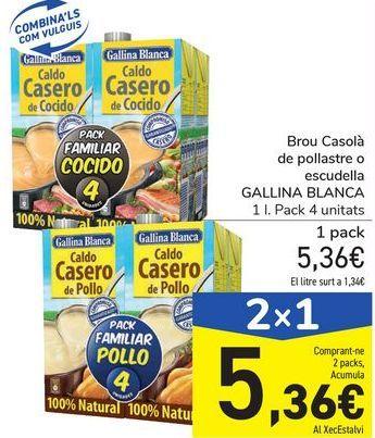 Oferta de Caldo Casero de pollo o cocido GALLINA BLANCA por 5,36€