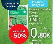 Oferta de Edamame Carrefour  por 1,6€