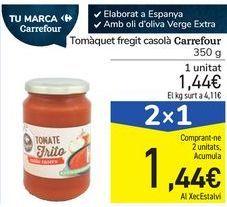 Oferta de Tomate frito casero Carrefour por 1,44€