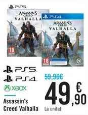 Oferta de Assassin's creed Valhalla PS5 PS4 XBOX por 49,9€