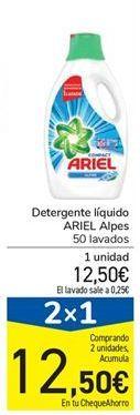 Oferta de Detergente líquido ARIEL Alpes por 12,5€
