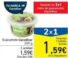 Oferta de Guacamole Carrefour por 1,59€