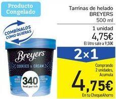 Oferta de Tarrinas de helado BREYERS por 4,75€