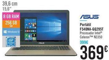Oferta de Portátil F540NA-GQ295T ASUS por 369€