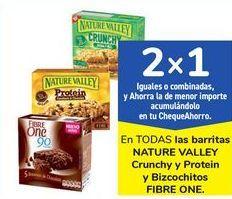 Oferta de En TODAS las barritas NATURE VALLEY Crunchy y Protein y Bizcochitos FIBRE ONE por