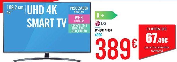 Oferta de TV 43UN74006 LG  por 389€