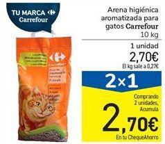 Oferta de Arena higiénica aromatizada para gatos Carrefour por 2,7€