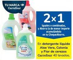 Oferta de En detergente líquido Aloe Vera, Colonia y Flor de cerezos Carrefour por