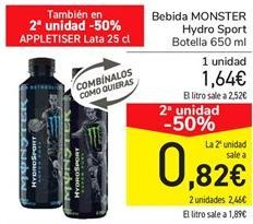 Oferta de Bebida Monster Hydro Sport  por 1,64€